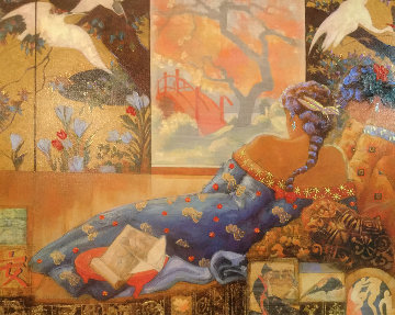 Floating World Embellished 2012 Limited Edition Print by Peter Nixon