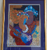Rhapsody Monotype 1980 40x33 Embellished Works on Paper (not prints) by Peter Nixon - 1