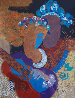 Rhapsody Monotype 1980 40x33 Embellished Works on Paper (not prints) by Peter Nixon - 0