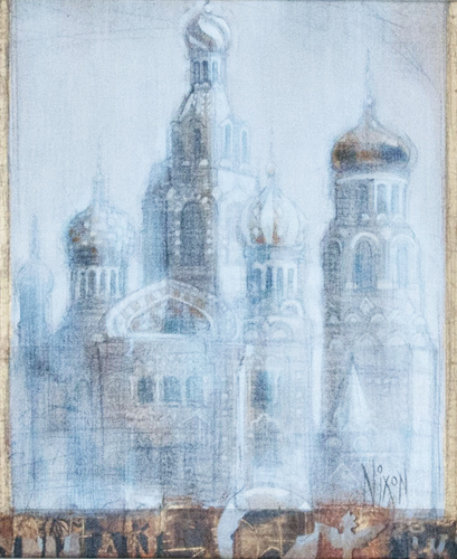 Morning, St. Petersburg 12x19 Original Painting by Peter Nixon