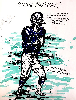 Untitled (Illegal Procedure) Unique Johnny Unitas 2000 Works on Paper (not prints) - Raymond Pettibon