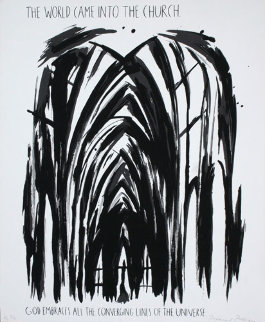World Came into the Church PP 1990 Limited Edition Print - Raymond Pettibon