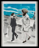 Jackie and John in the 70's AP Limited Edition Print by Elizabeth Peyton - 1