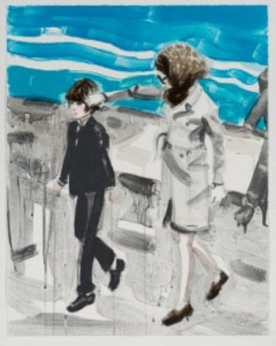 Jackie and John in the 70's AP Limited Edition Print by Elizabeth Peyton