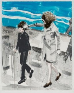 Jackie and John in the 70's AP Limited Edition Print - Elizabeth Peyton