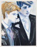 Prince William and Prince Harry At Uncle's Wedding AP Limited Edition Print - Elizabeth Peyton