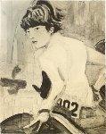 John (John F. Kennedy, Jr. on Horseback) 2000 Rare! Limited Edition Print - Elizabeth Peyton