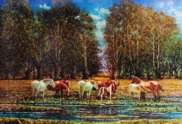 A Pleno Sol 2006 53x72 (Argentina) Huge Original Painting - Carlos Pfeiffer