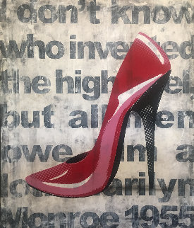 Red Shoe #5 2009 56x46 Original Painting - Ray Phillips