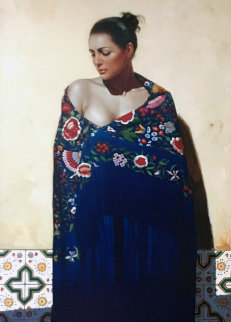Shawls of Spain - Azul AP 2006 Limited Edition Print - Gabriel Picart