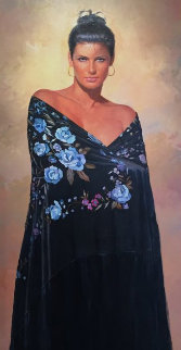 Blue Eyes 48x30 Original Painting - Gabriel Picart