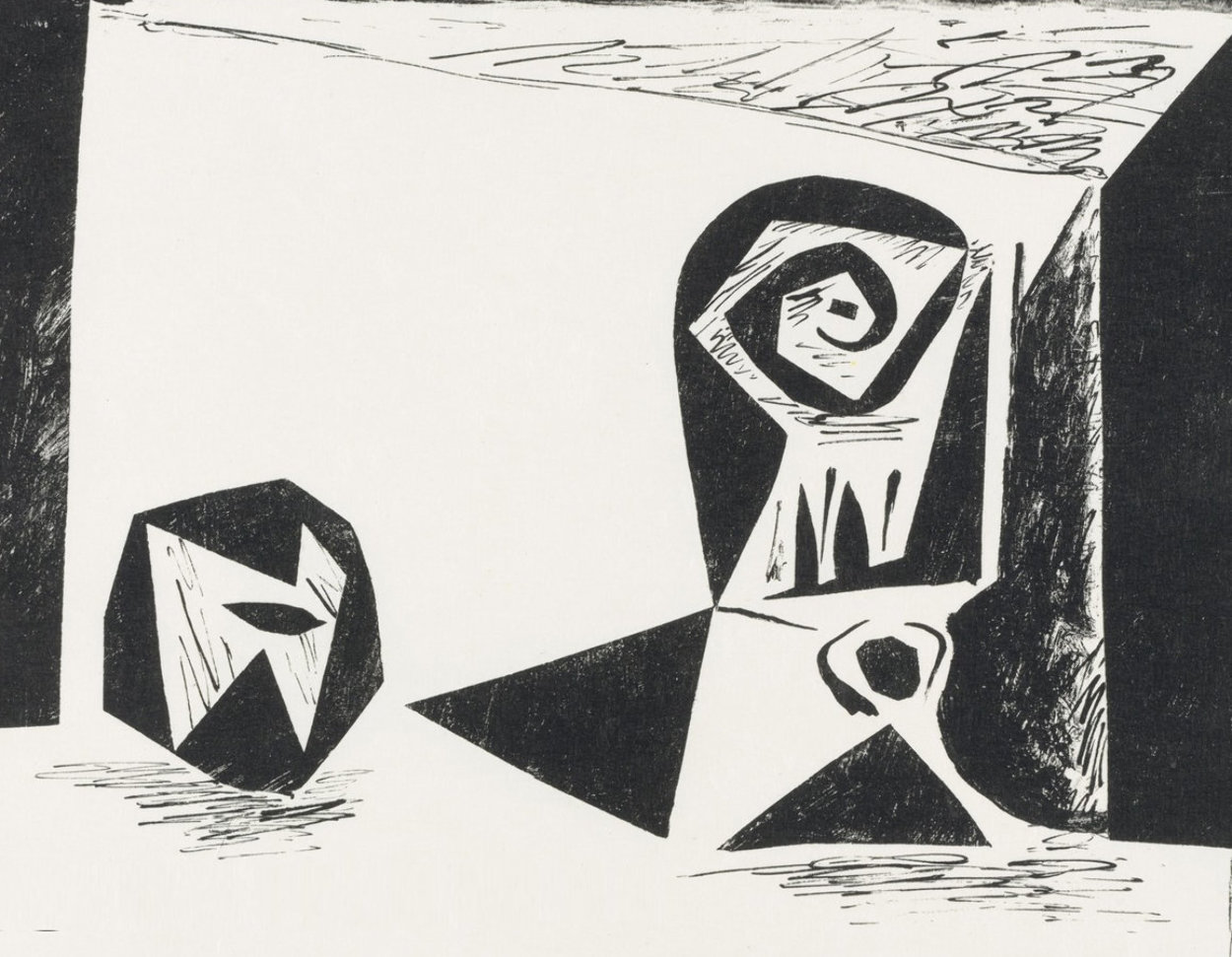 Composition With Stemmed Glass PP 1947 Limited Edition Print by Pablo Picasso