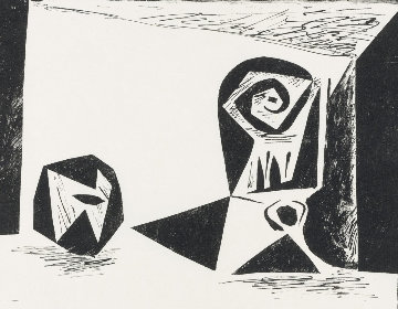 Composition With Stemmed Glass PP 1947 Limited Edition Print - Pablo Picasso
