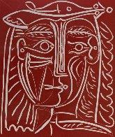 Tete De Femme Au Chapeau / Paysage Avec Baigneurs Linocut 1962 Limited Edition Print by Pablo Picasso - 0
