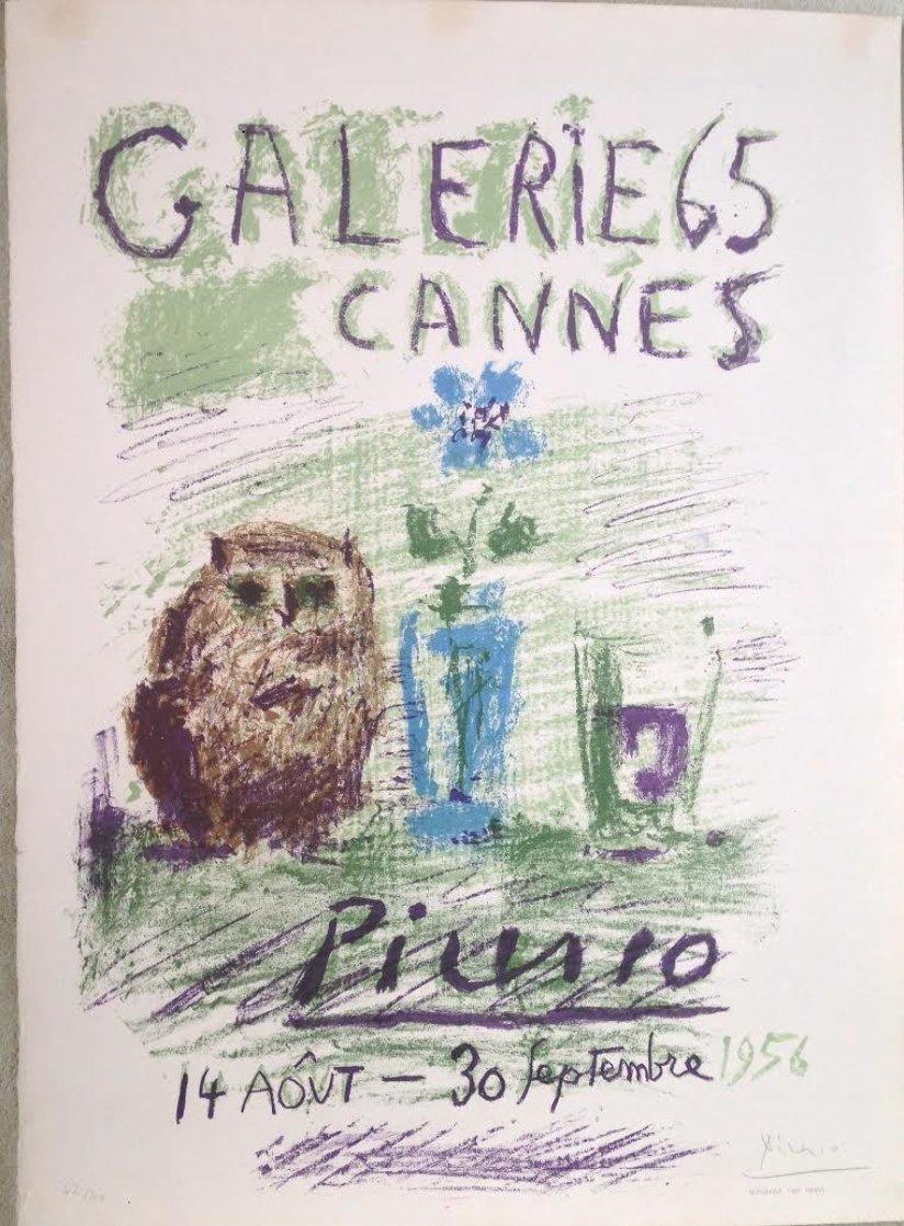 Hibou, Verre Et Fleur 1956 HS Limited Edition Print by Pablo Picasso