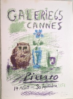 Hibou, Verre Et Fleur 1956 HS Limited Edition Print - Pablo Picasso