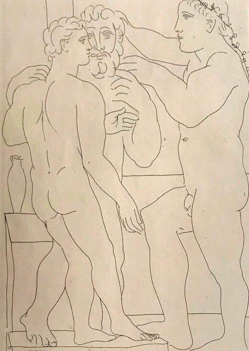 Deux Hommes Sculpts: Vollard Suite 1933 HS Limited Edition Print by Pablo Picasso