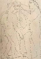 Deux Hommes Sculpts: Vollard Suite 1933 HS Limited Edition Print by Pablo Picasso - 0