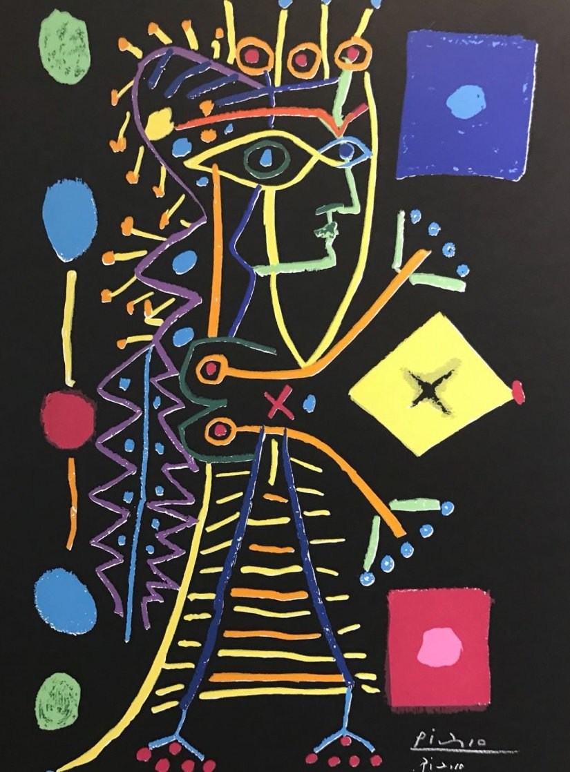 Jacqueline with Dice (Black) 1958 HS Limited Edition Print by Pablo Picasso