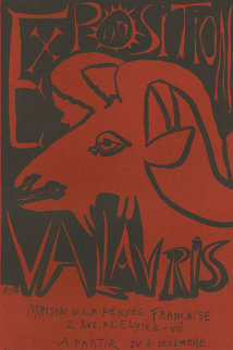 Exposition  Book Page Linocut 1952 HS Limited Edition Print - Pablo Picasso