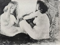 Deux Femmes - Double Flute Limited Edition Print by Pablo Picasso - 1