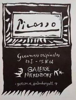 Picasso. Galerie Nierendorf, Berlin. 27 January - 15 April 1964 Limited Edition Print - Pablo Picasso