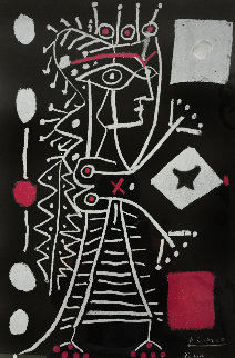 Jacquline With Dice 1st State  (Black) 1958   Limited Edition Print - Pablo Picasso
