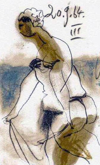 Figura Femminile 1970 Limited Edition Print by Pablo Picasso