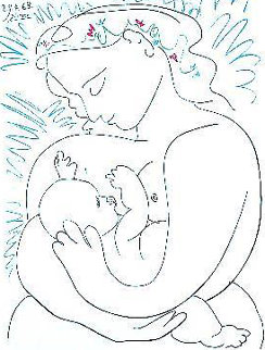 Mother And Child 1963 Limited Edition Print by Pablo Picasso