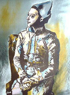 Portrait of Harlequin, Picasso the Early Years, Musee D'art Histoire, Paris 1960 Poster Limited Edition Print by Pablo Picasso