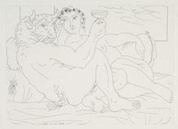 - Minotaure Avec Une Coupe a La Main, Plate 83 Limited Edition Print - Pablo Picasso