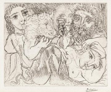 Voullard: Minotaur, Drunkard And Women (Minotaur, Buveur Et Femmes - 4th State) 1933  Limited Edition Print - Pablo Picasso