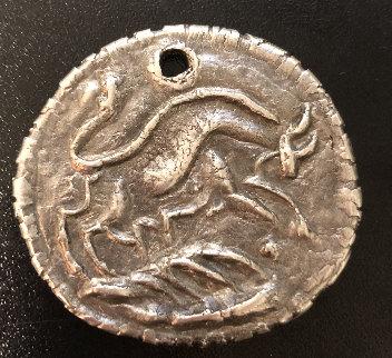 Picador Silver Medallion  1956 1.5 in Sculpture - Pablo Picasso