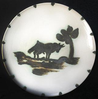Taureau Sous l'Arbre Ceramic Plate 1952 7 in Sculpture - Pablo Picasso