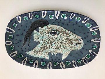 Tete De Chevre De Profile Ceramic Dish 1952 20 in Sculpture - Pablo Picasso