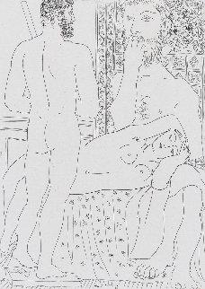 Sculpteur, Modele Couche Et Autoportrait En Hercule Sculpte 1933 Limited Edition Print - Pablo Picasso