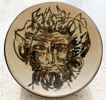 Tete De Faune Cupel Ceramic 1955 Sculpture by Pablo Picasso