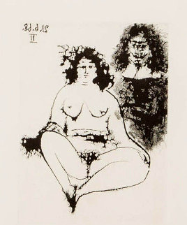 Courtesan and Musketeer 1971 Limited Edition Print by Pablo Picasso