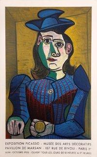Rare Exhibition Poster For Picasso Exposition At Musée Des Arts Décoratifs, Paris 1955 Limited Edition Print by Pablo Picasso