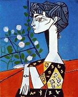 Jacqueline Avec Des Fleurs Exhibition Poster 1956 Limited Edition Print by Pablo Picasso - 1