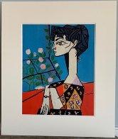 Jacqueline Avec Des Fleurs Exhibition Poster 1956 Limited Edition Print by Pablo Picasso - 2
