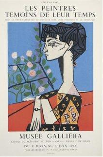 Jacqueline Avec Des Fleurs Exhibition Poster 1956 Limited Edition Print - Pablo Picasso