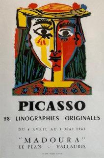 "Rare Original Exhibition Poster ""Picasso: 28 Linographies Originales, Galerie Madoura Limited Edition Print - Pablo Picasso"