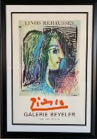 """Original Exhibition Poster For """"Picasso: Enhanced Linocuts 1970 Limited Edition Print by Pablo Picasso - 1"""