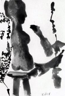 Sculpteur Devant Sa Sellete, Avec Un Spectateur Barbu  1966 Limited Edition Print - Pablo Picasso