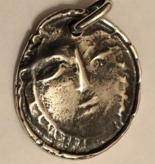 Visage Madoura Silver Pendant 1950 1.38 in Jewelry - Pablo Picasso