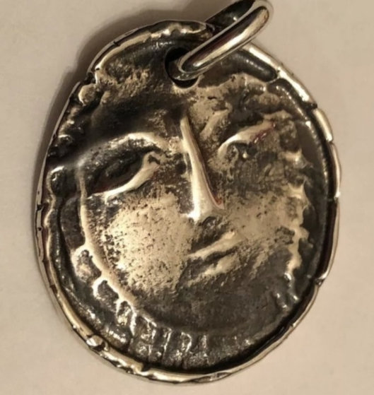 Visage Madoura Silver Pendant 1950 1.38 in Jewelry by Pablo Picasso