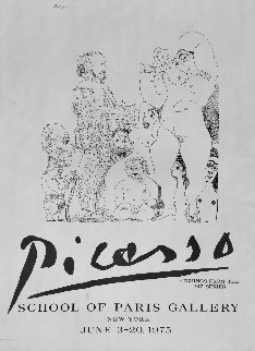 School of Paris Gallery Poster 1975 Other by Pablo Picasso