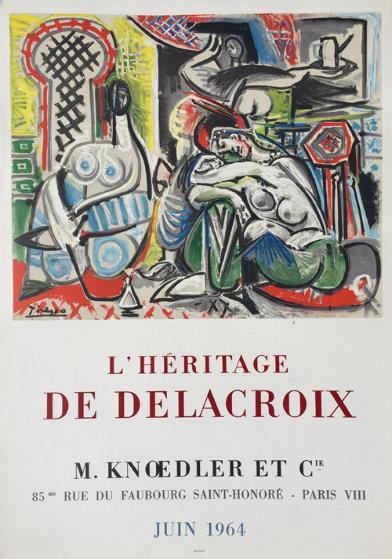 l'Heritage De Delacroix Poster 1964 Other by Pablo Picasso