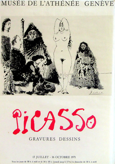 Gravures Dessins Poster 1971 Limited Edition Print by Pablo Picasso